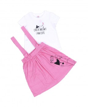 Little Kitten 10 - Jumper Dress & T-shirt (Girls | 6-24 Bulan)