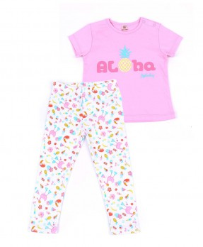 Summer Time 07 - T-shirt & Trouser (Girls | 6-24 Months)