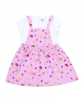 Fluffy Bunny 08 - Dress (Girls | 6-24 Bulan)