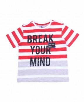 Stripe and Shape 10B - T-Shirt (Boys | 5-14 Tahun)