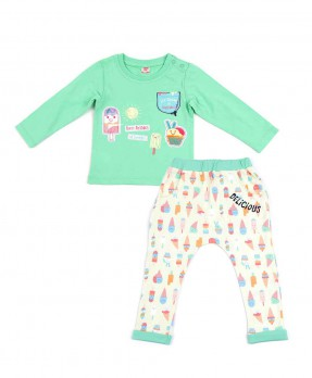 Scream Ice Cream 03 - T-shirt and Trouser (Boys | 6-24 Months)