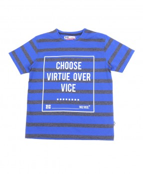 Stripe and Shape 05A - T-Shirt (Boys | 5-14 Tahun)