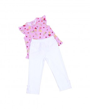 Fluffy Bunny 05 - Blouse & Trouser (Girls | 6-24 Bulan)