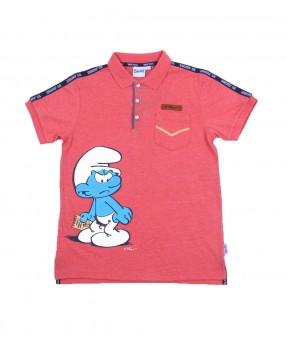 Smurf Casual 04 - Polo Shirt (Boys   4-12 Tahun)