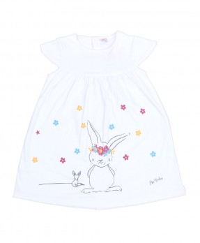 Fluffy Bunny 02 - Dress (Girls | 6-24 Bulan)