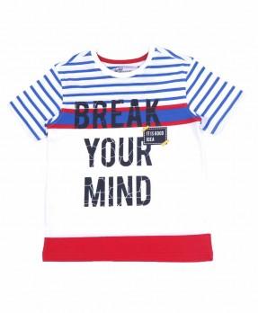 Stripe and Shape 10A - T-Shirt (Boys | 5-14 Tahun)