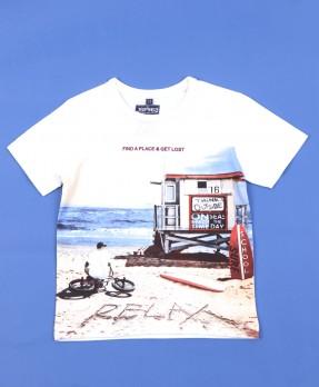 On Beach Time 01 - T-Shirt (Boys | 5-14 Tahun)