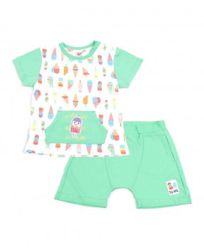 Scream Ice Cream 02 - T-shirt and Short Pants (Boys | 6-24 Months)