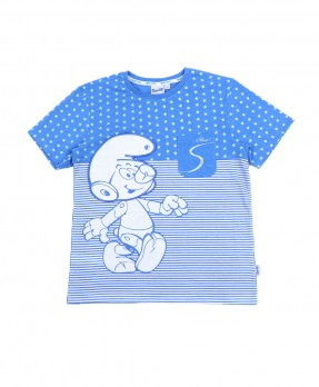 Smurf Casual 05 - T-Shirt (Boys   4-12 Tahun)