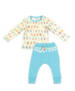 Scream Ice Cream 04 - T-shirt and Trouser (Boys | 6-24 Months)