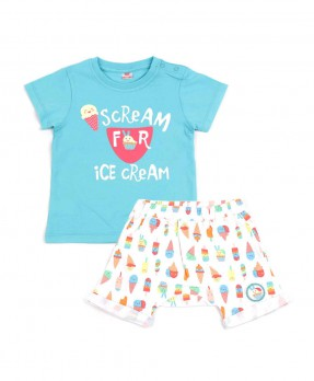 Scream Ice Cream 01 - T-shirt and Short Pants (Boys | 6-24 Months)