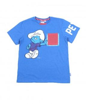 Smurf Casual 02 - T-Shirt (Boys   4-12 Tahun)